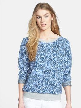 Olivia Moon Print Back Tie Sweatshirts