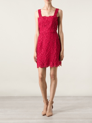 Dolce & Gabbana Pink Silk Embroidered Dress