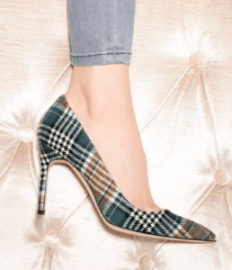 Manolo Blahnik BB Plaid Pointy Toe Pump