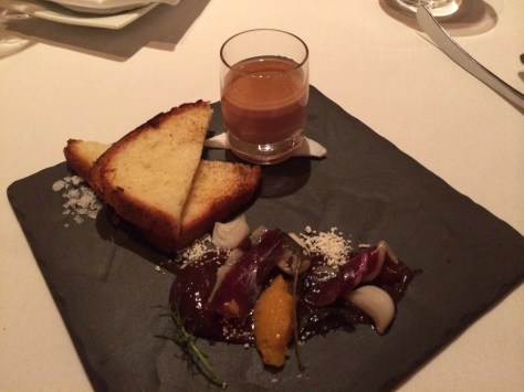 Foie Gras & Chicken Liver Parfait - with Fig Puree