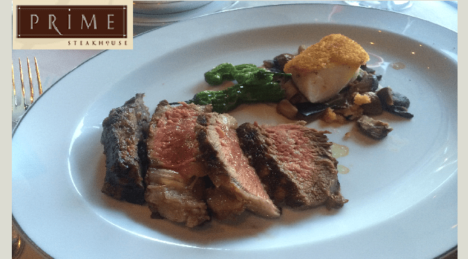 The Prime Steakhouse Restaurant at the Bellagio Hotel in Las Vegas