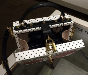 Dolce & Gabbana Polka Dot Floral Textured Leather Shoulder Bag