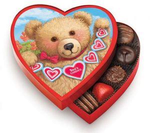 Sees Candies Teddy Bear Heart