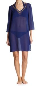 Shoshanna Bead Accented Sheer Tunic