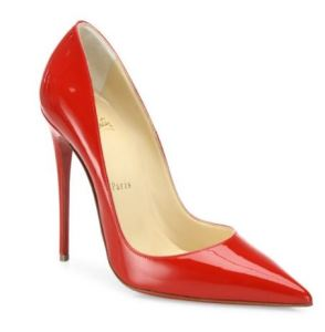 Christian Louboutin So Kate Patent Leather Point-toe Pumps