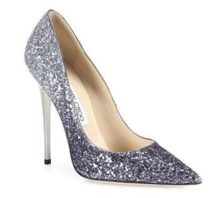 Jimmy Choo Romy Glitter Degrade Point-toe Pumps