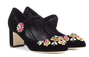 DolceGabbana_Crystal-embellished Mary Jane pumps