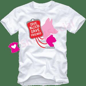 เสื้อยืดบริจาคเลือด Give Blood Save Friends