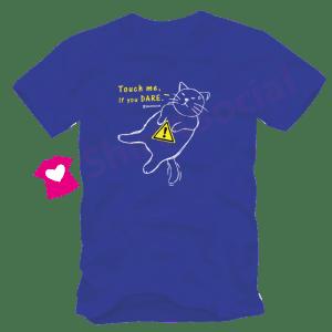 เสื้อลายแมว CAT-14 สีน้ำเงิน