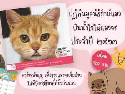 ปฏิทินโครงการรักษ์แมว2020