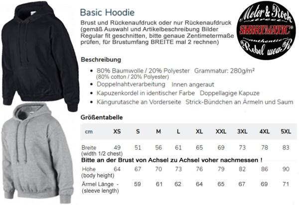 Shirtmatic Hoodie Größen