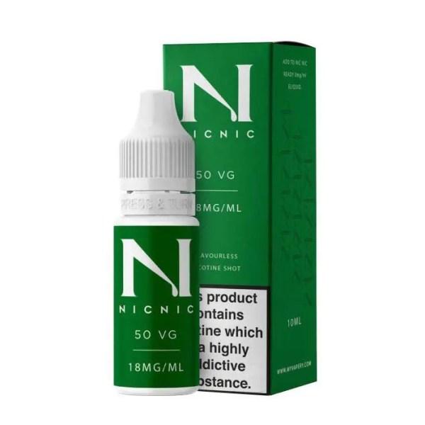 50VG 18mg Nicotine Shot By NicNic