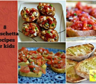 Breakfast/ Snack/ Bruschetta recipes for kids