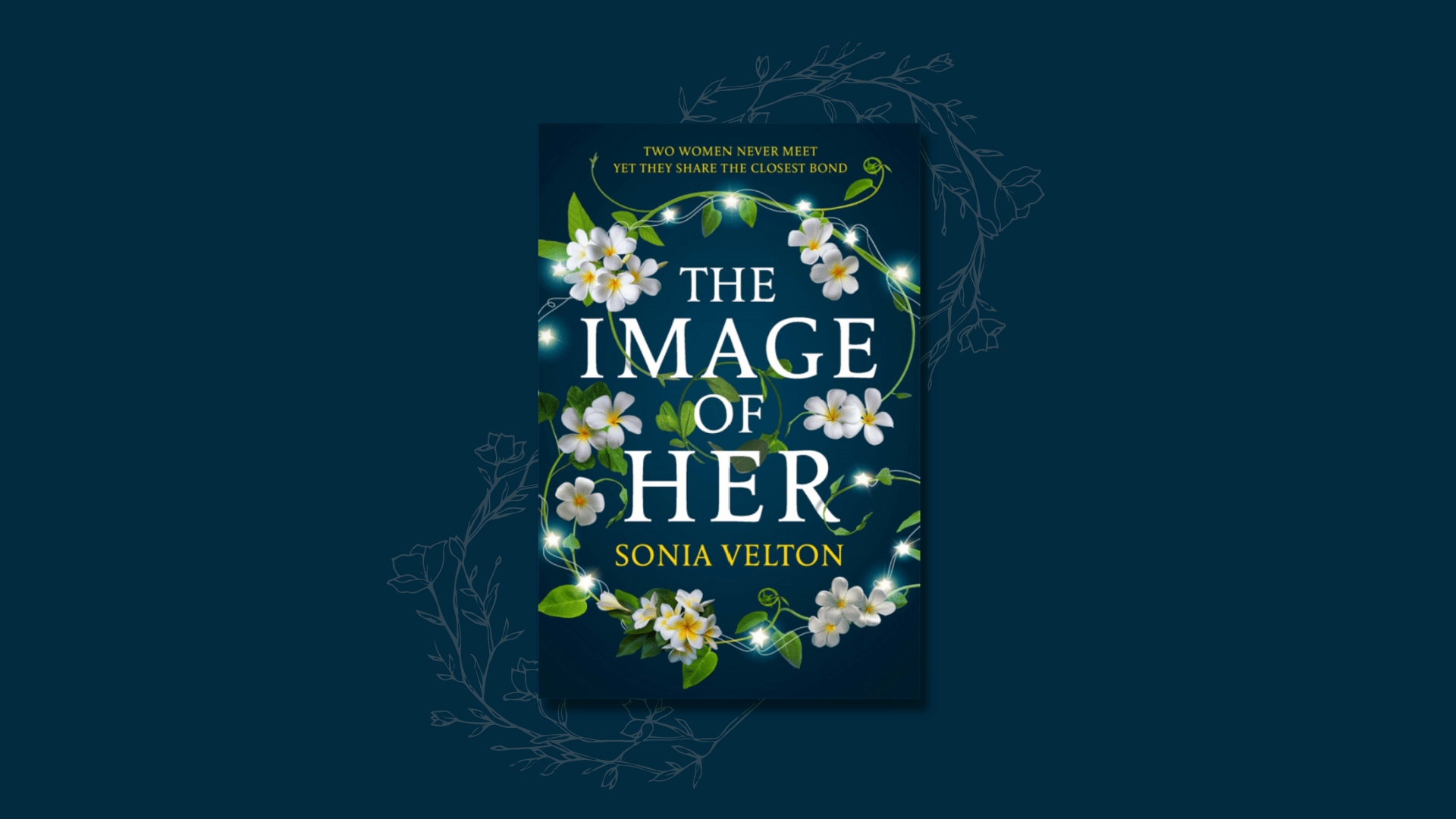 The cover of The Image of Her by Sonia Velton against a dark blue background