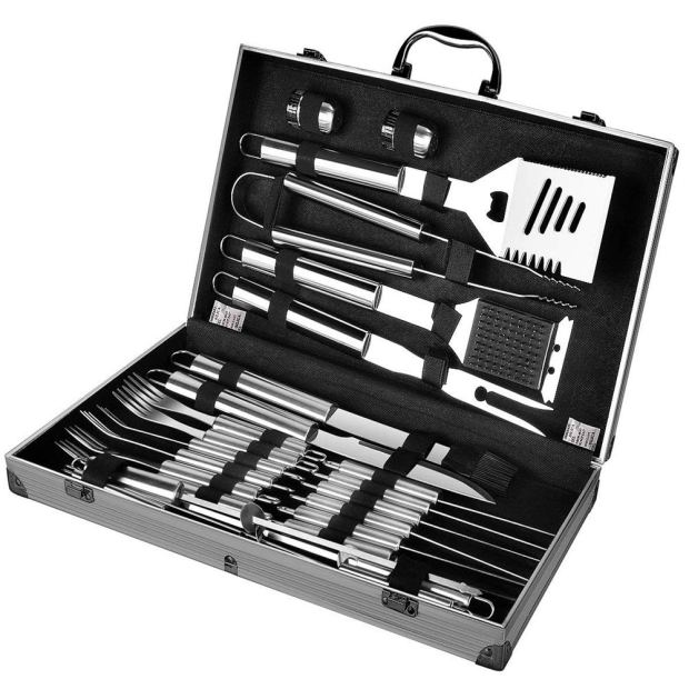 Steel Grilling Set with Case