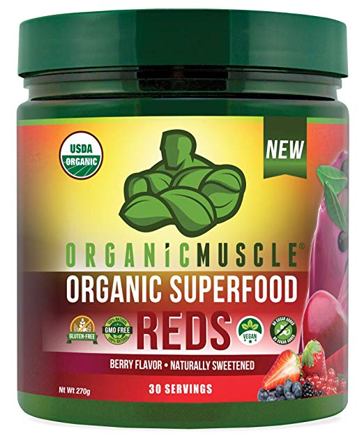 Organic Muscle Superfood Reds Powder