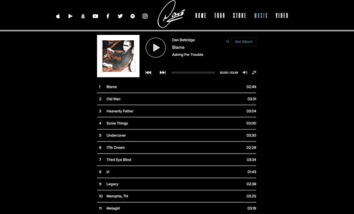 Dan Bettridge Music Page