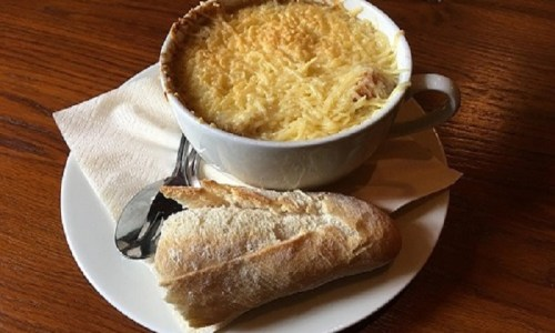 French Onion Soup, Recipe, Soup, French, Shivesh, Kitchen, Cooking, Food, Production, Beef, Pork, Chicken, Mutton, Fish, Egg, Vegetable, Paneer, Cheese, Lobster