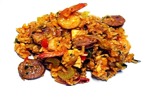 Jambalaya, Rice dish, Shivesh, Kitchen, Recipe, Cooking, Shrimp, Sausage, Chicken, Food, Louisiana, Cuisine, Beef, Pork, Ham, Bacon, Cheese,