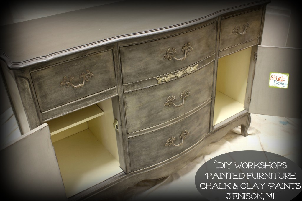 Shizzle design french provincial buffet refinished with for Door design in mica