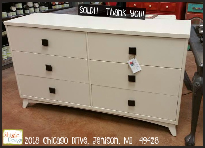 11 May Mid Century Modern Dresser Shizzle Design Chalk Paint Jenison  Michigan Sold White