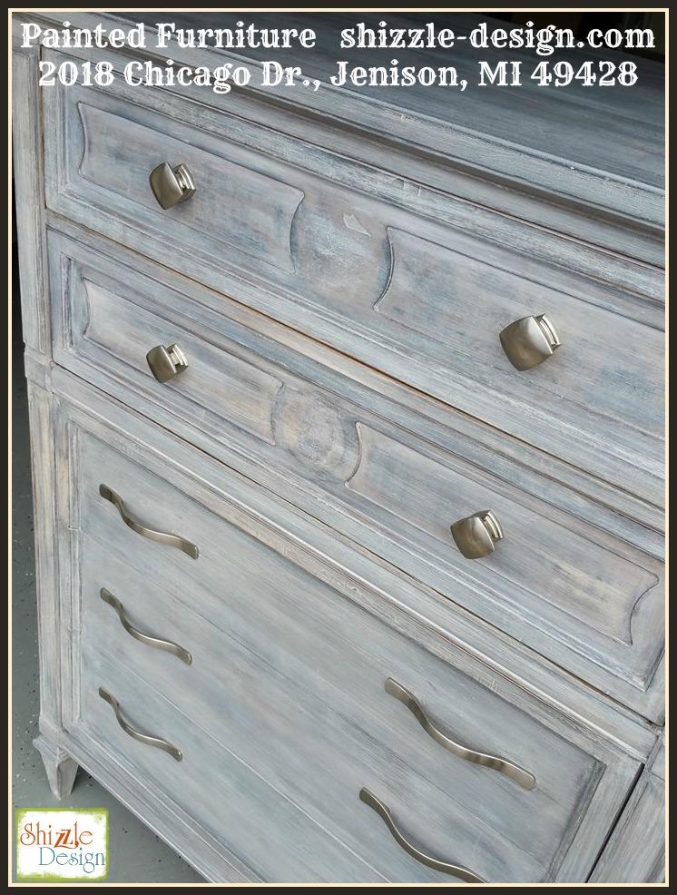 stunning antique white wash furniture | Shizzle Design | Beautiful White Wash Finish using Dark ...