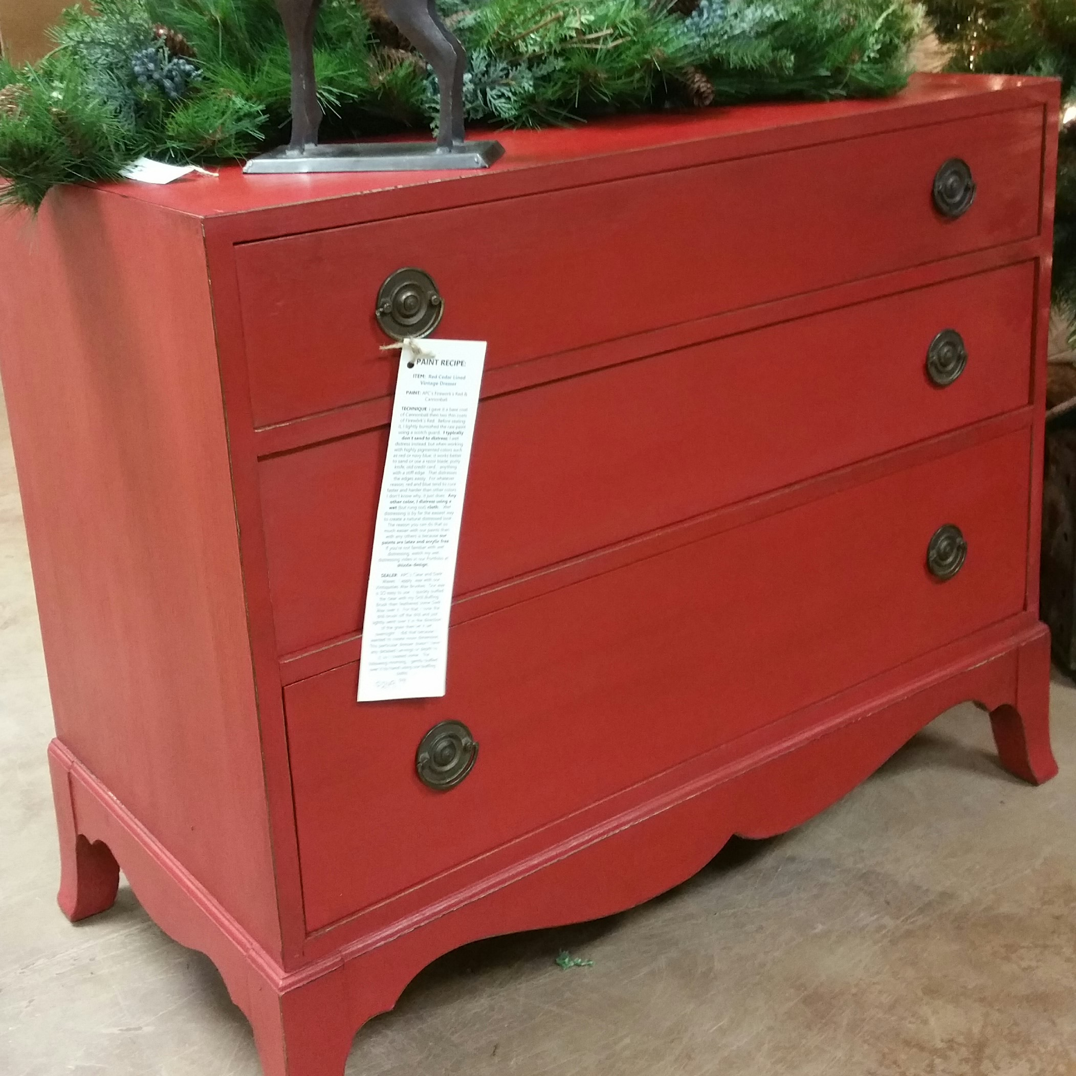 This Yearu0027s Little Red Dresser along with