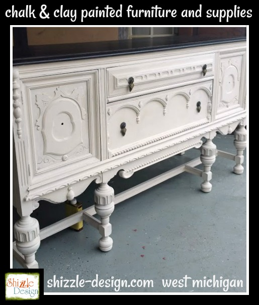 This outstanding buffet came from a dear friend of mine who was unable to  finish painting it because she was taking care of her mom as she battled  cancer. - Shizzle Design Beautiful Antique Buffet Refinished In Frenchic