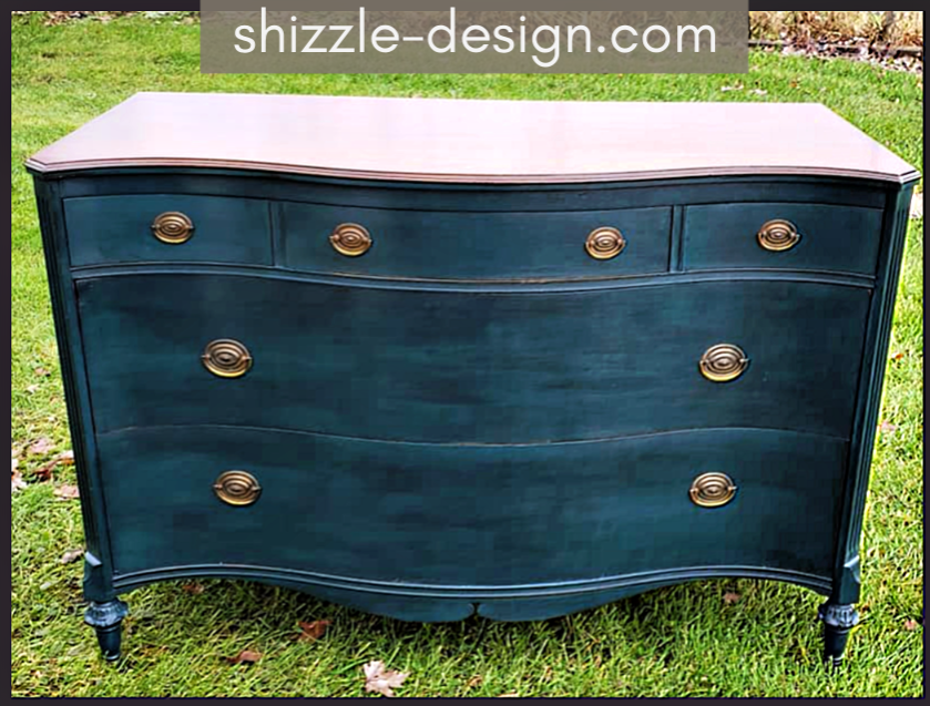 Shizzle Design Vintage Dresser Chalk Painted Shizzle Style In