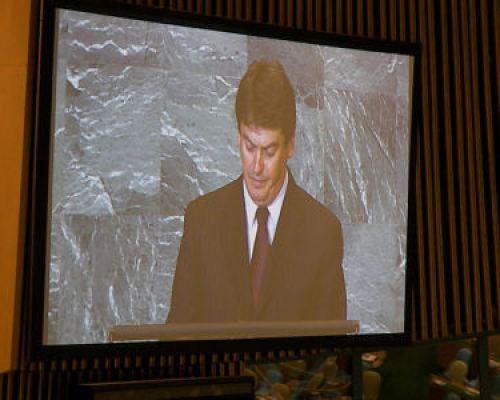 Presidenti Topi në OKB