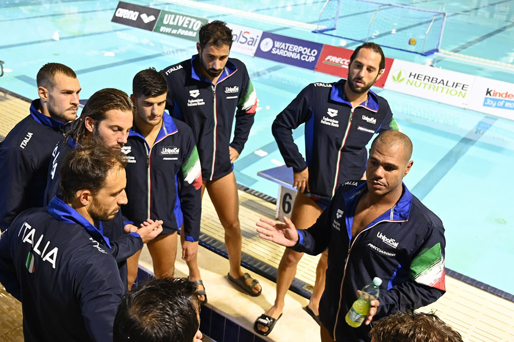 Waterpolo Sardinia Cup. Gli azzurri a Terramaini. 📷 Andrea Chiaramida