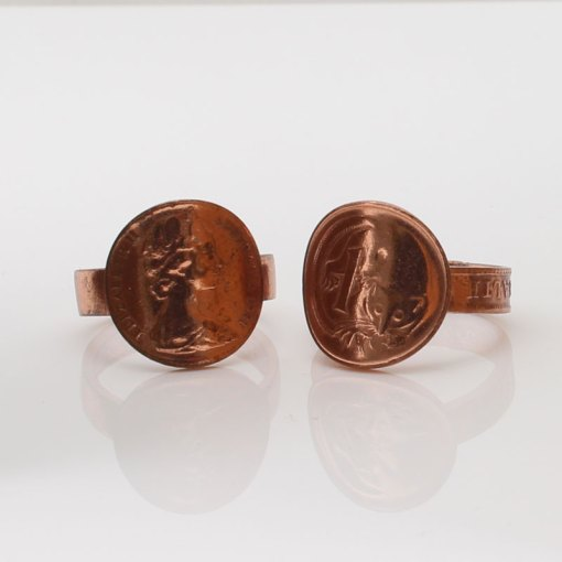 One Cent Coin Ring