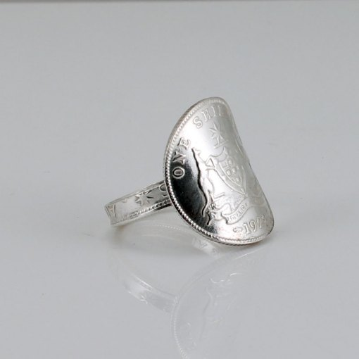 Australian One shilling Coin Ring