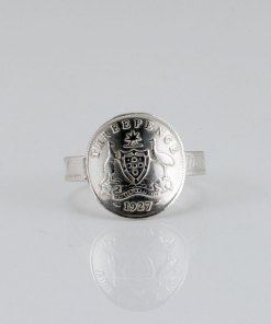 Australian three pence coin ring