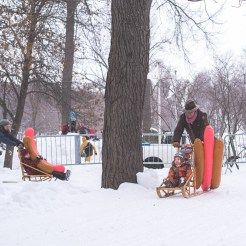 Fête des neiges 2016 - course de hot dog