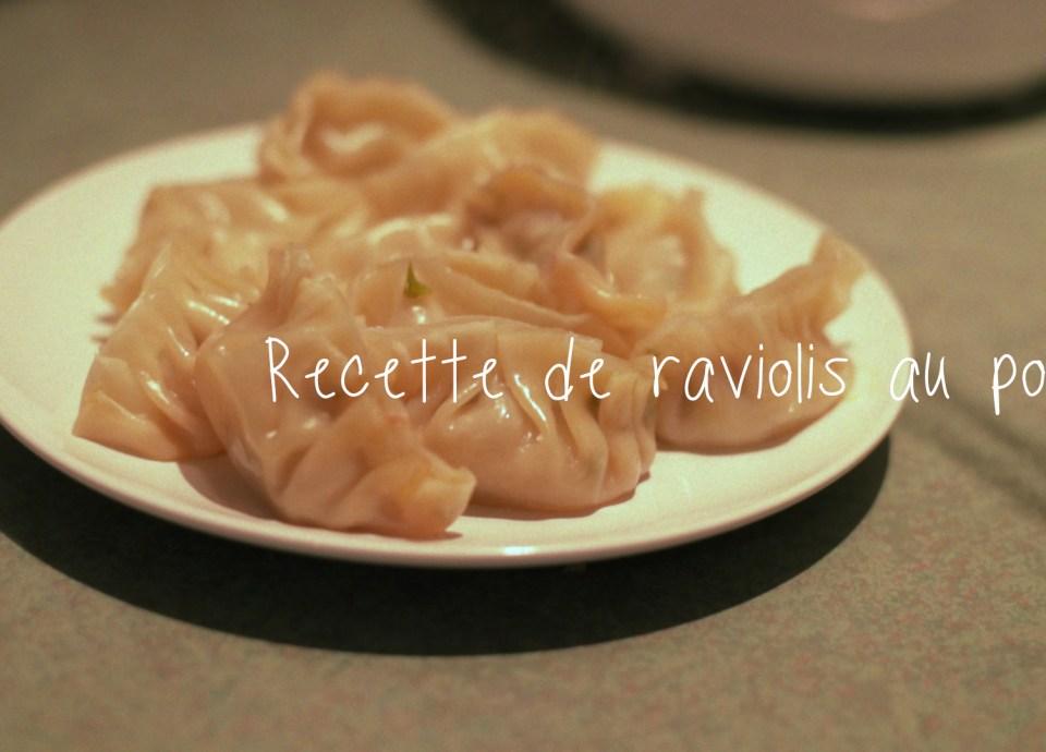 Nouvel an chinois - recette raviolis au porc