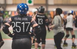 Roller Derby - Sexpos de Montréal vs Duchesses de Québec - Féline Dion