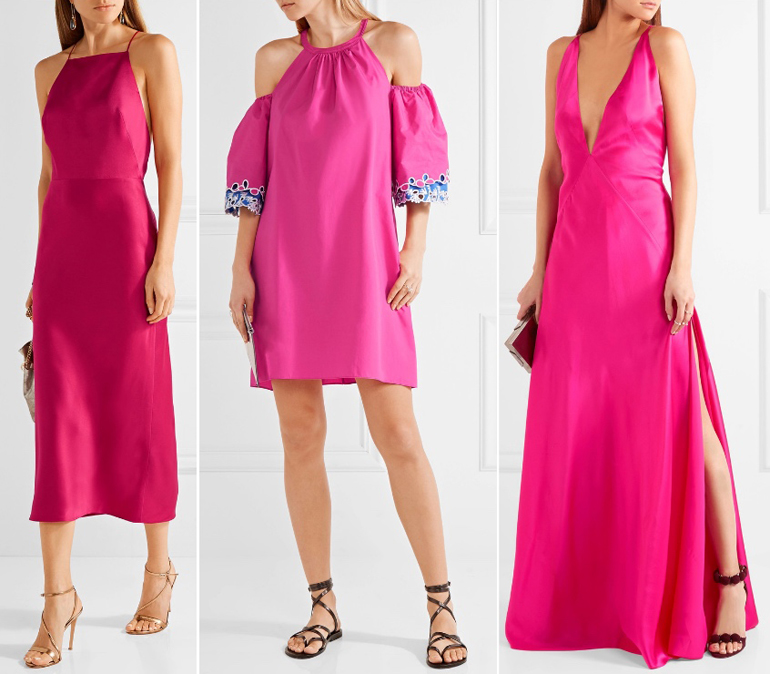 What Color Shoes With Hot Pink Dress Outfit Fuchsia