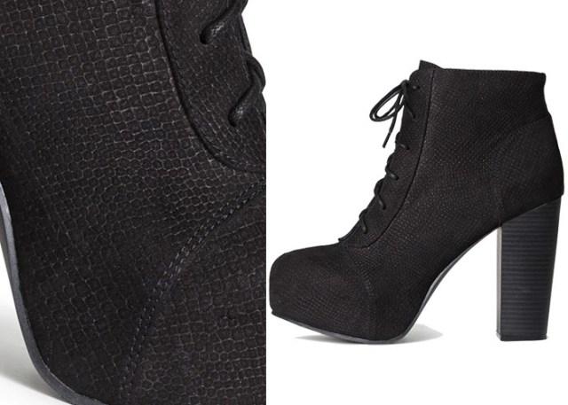 Copycat: H&M vs. Jeffrey Campbell boots. Laarzen, schoenen en enkellaarsjes. Bekijk hier de schoenen van H&M vs. die van Jeffrey Campbell. Lees nu.