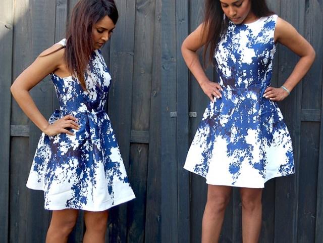 Bloemenprint jurkje voor de lente van 2016. Ga voor een flower dress, musthave 2016. Shop een mooie floral dress hier online. De bloemenprint is hot.