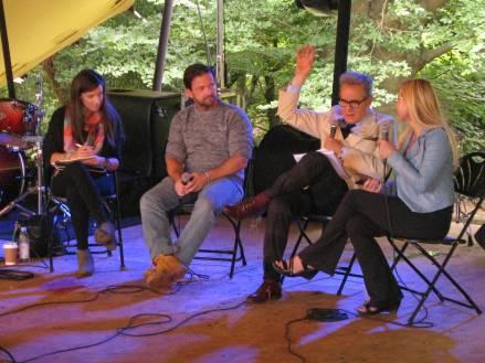 Caroline Orr, James Patrick, Peter York and Zarina Zabrisky at Byline 2018