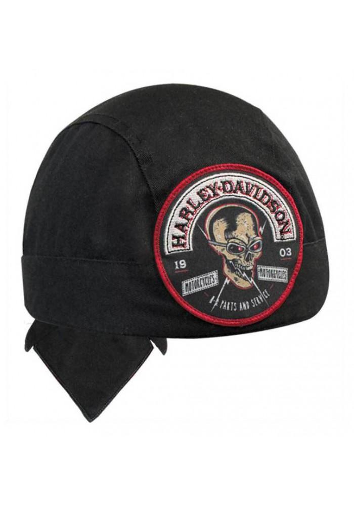 Harley Davidson Homme Skull Rocker Stitched Patch Bandana