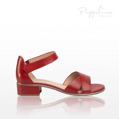 puppelina sandalett skinn röd