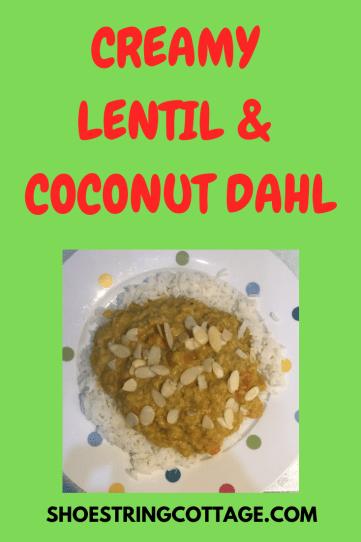 creamy coconut lentil dahl