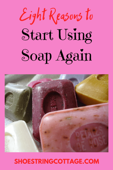 start using soap again