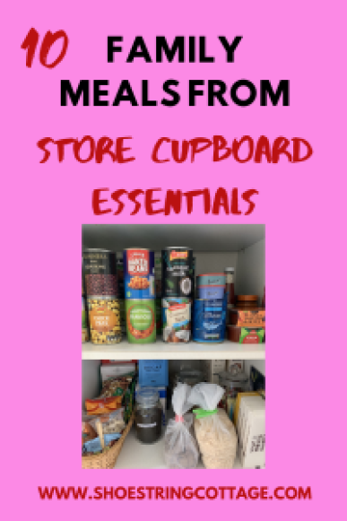 meals from store cupboard