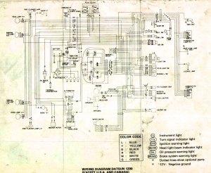 Tech Wiki  Wiring Diagram : Datsun 1200 Club