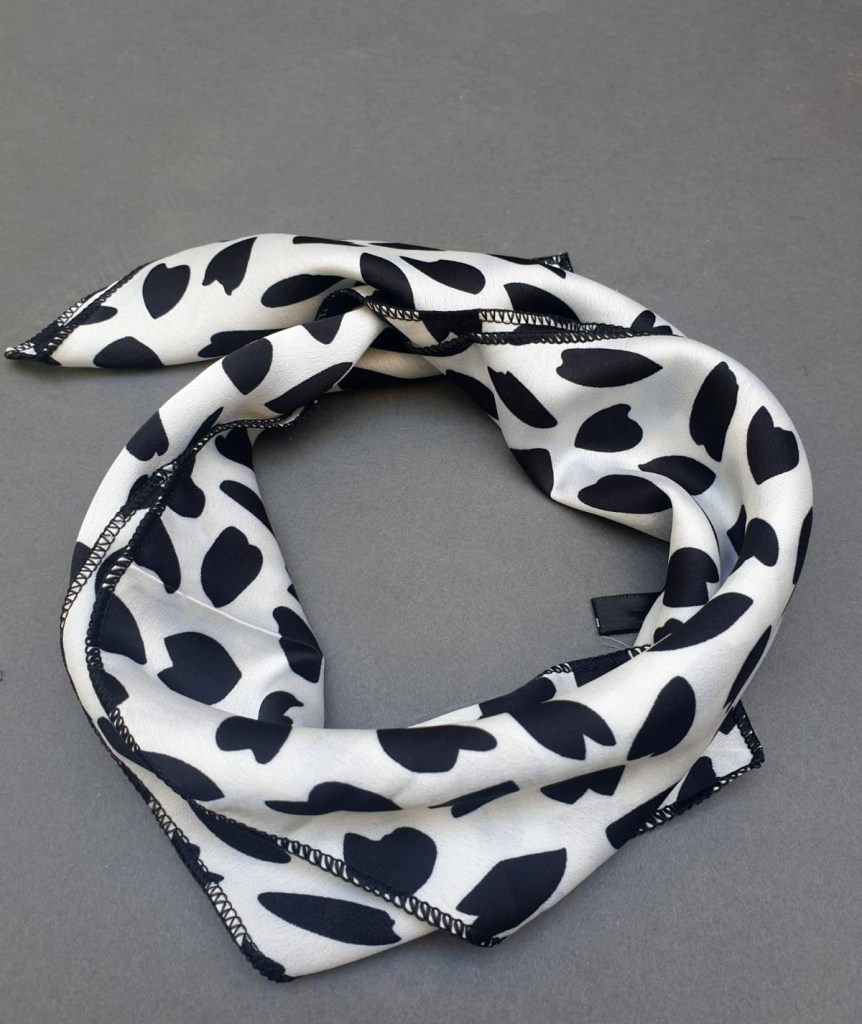 Cheetah BW headscarf