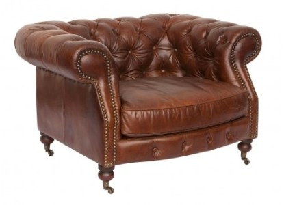 Canap     cuir Chesterfield Zola   2 places Fauteuil cuir Chesterfield Zola