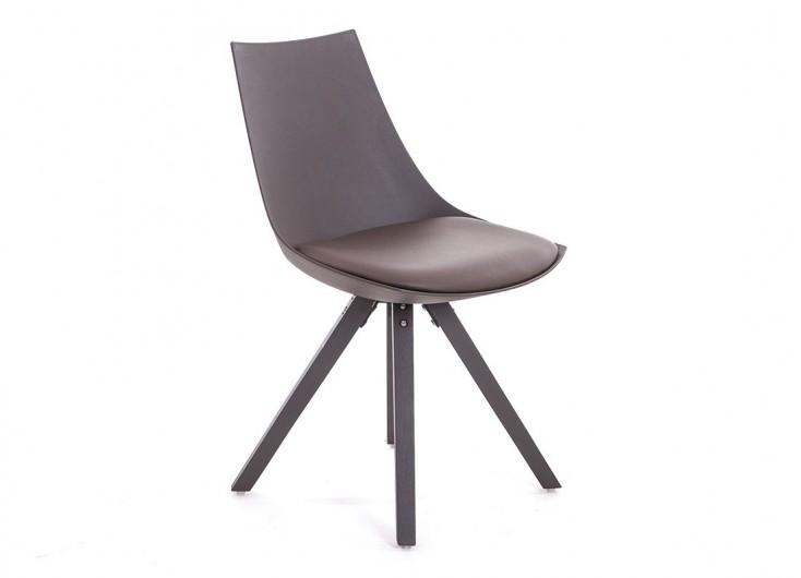 chaise scandinave olsen marron cuir synthetique
